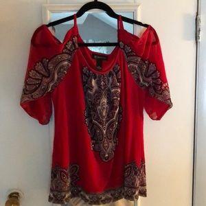 INC 3/4 length blouse